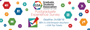 Be in with a chance of winning part of our £250+ prize giveaway - Postgraduate Experience Survey 2018