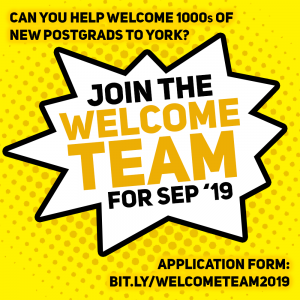 Welcome Team information for September 2019