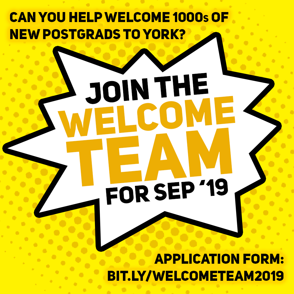 Welcome Team information for September 2019
