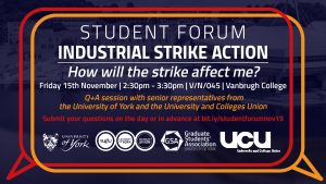 Industrial Strike Action: Guidance for Students + GSA Response
