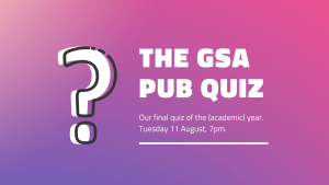 Details of the GSA pub quiz