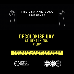 Decolonise University of York SU's Vision